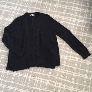 Madewell Charcoal Black Knit Cardigan